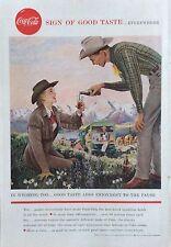 1950's Original Coca-Cola Magazine Ad Coke Wyoming Cowboy Luxury Liners