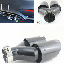 (Right) Plating black Carbon Fiber+ steel Car Dual Pipes Tail Muffler Tailpipes