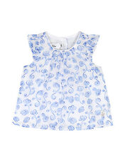 Baby Dior China Azul Blusa Floral 3 meses