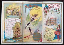 More details for palace theatre of varieties london 1909 programme - superb colour