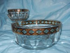 Vintage ARCOROC France Glassware - Serving 2 Bowl VALENCIA