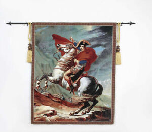 "Medieval napoleon bonaparte Jacquard Woven Fine Art Tapestry Wall 31"" X 34"""