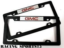 x2 GMC Racing ABS Plastic License Plate Frame For GMC SIERRA DENALI ACADIA YUKON