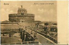 Primi anni 1900 Roma - Ponte e Castel Sant'Angelo - FP B/N