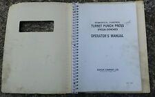 Amada operating manual 4 turret punch press Pega-2040404