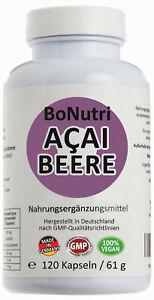 Hochdosiert 25:1 120 Kapseln Acai Beere 30000 mg Tagesdosis Deutsche Qualität