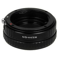 Fotodiox Lens Macro Adapter Nikon F G-Type to Micro Four Thirds (MFT, M4/3) Body