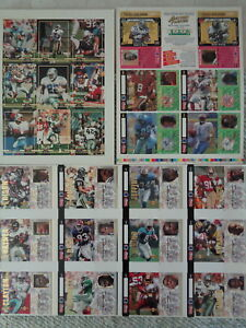 1993 ACTION PACKED FOOTBALL - 1992 TOPPS CARD CONVENTION UNCUT SHEETS (3) SHEETS