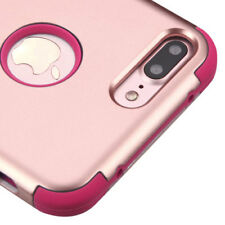 FOR IPHONE 7 PLUS ROSE GOLD PINK SHOCKPROOF CASE TUFF RUGGED COVER