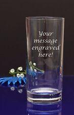 Personalised Engraved Hi Ball Glass Birthday Wedding Bride Celebration Christmas