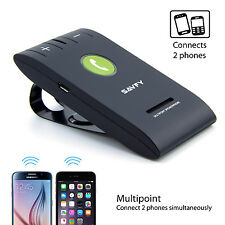 SAVFY Bluetooth Kit Main Libre Haut-parleur Voiture Pare-soleil iPhone Samsung