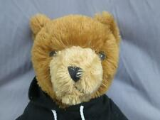 Big Super Bowl Xlv North Texas Brown Teddy Bear Black Hoodie Plush Stuffed
