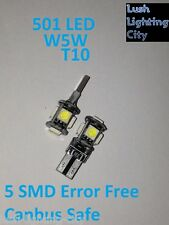 501 T10 W5W 5 SMD ERROR FREE CANBUS SIDELIGHTS HID XENON WHITE FITS ALL CARS LED