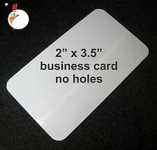 """50 White Dye Sublimation Aluminum BUSINESS CARDS 2"""" x 3.5"""" - Wholesale Lot"""