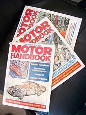 Lot of 3 Motor Handbooks 63rd Edition 1986, 67th Edition, 1990 & 66th Edition 89