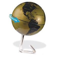 Drehender Deko Globus Weltkugel gold schwarz mit Batteriebetrieb Designständer