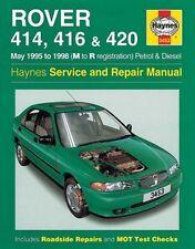 Haynes Manual Rover 414 416 & 420 1995 - 1998 Petrol & Diesel M to R Reg