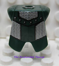 Lego Dark Green Breastplate Armor, Adric/Kentis Chain Mail Pattern - New