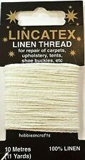 WHITE STRONG LINEN THREAD Lincatex For All Types Of Heavy Duty Mending