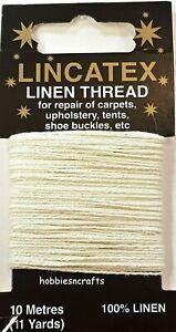 WHITE STRONG LINEN THREAD Lincatex For All Types Of Heavy Duty Mending