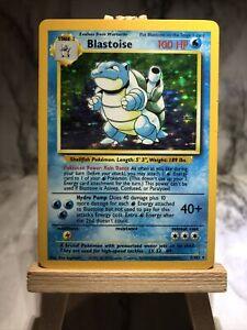 Pokemon 1999 Blastoise 2/102 Holo Rare Unlimited Edition Base Set