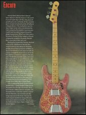 Fender 1968 Telecaster Bass Paisley Red guitar history 1994 pin-up article