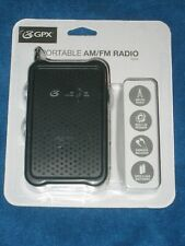 GPX R055B Portable AM/FM Radio with Built-in Speaker, New!