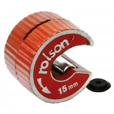 Rolson Rotary Action 15mm Copper Pipe Cutter & Spare Wheel