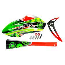 Microheli Airbrush Fiberglass Green Gears Fuselage set - BLADE 200 SRX Heli
