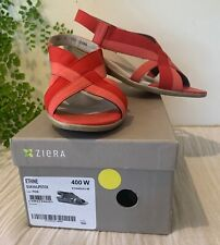 ZIERA Sandals - Red / Choral  -  Size 40