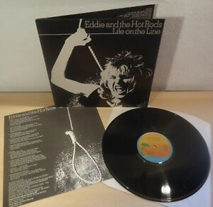 EDDIE AND THE HOT RODS : LIFE ON THE LINE  -  1977 LP Italy con Inserto
