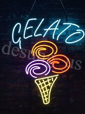 "New Gelato Ice Cream Light Lamp Open Neon Sign 32""x24"""