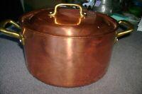 Ruffoni Copper 4 Quart Stock Pot W/ Lid - made in Italy