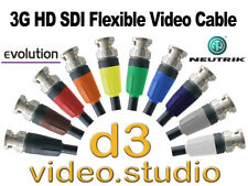 3G HD SDI Digital Video Flexible Neutrik BNC Cable Sony ATEM BMD JVC Tricaster