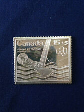 1976 Canada Post Montreal 15+5 Stamp Fractional .999 Silver Art Bar P1306