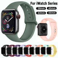 Sports Silicone Band Strap For Apple Watch Series 5 4 3 2 1 iWatch 38 42 40 44mm