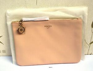 Azzaro Wanted Girl Pink Faux Leather Pouch/Purse/Make Up Bag New