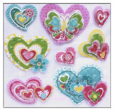 3D Multi Coloured Glitter Butterfly Heart Removable Decor Wall Sticker Girl Room