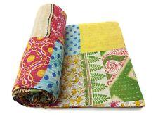 Vintage patchwork Kantha Quilt Handmade Cotton Saree Bedspread Bedding RalliPA50