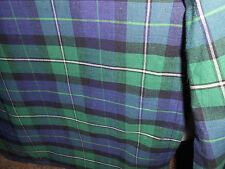 California King Tommy Hilfiger TRUE Tartan Plaid Bed Skirt Blue Green  Box Pleat