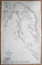 1877 GULF OF QUARNERO CAPE PROMONTORE GROSSA ISLAND VINTAGE ADMIRALTY CHART MAP