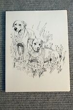 Labrador Retriever Pen and Ink Stationary Cards, Note Cards. 10 pack.