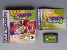 NINTENDO GAME BOY ADVANCE GBA CRASH & SPYRO SUPER PACK 3 COMPLETO BOXED CIB PAL