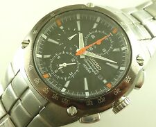 Pre-Owned Seiko 100m Sportura Chronograph Watch - 7T62-0ED0 - Sapphire Crystal