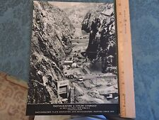 1935? Hoover Dam 8 x 10 Photogravure & Color NYC New York City Ad Great!!