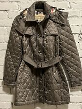 Authentic burberry finsbridge Quilted Brown jacket M