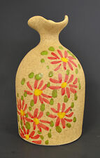 """Hand Made & Hand Painted Pottery Vase 5 1/2"""" H x 3 1/4"""" W MDRC-1"""