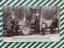 """cpa MACON ? TROUPE FALLONE """" Criollo Jazz """" ACCORDEONISTE agé de 7 Ans CAVAGNOLO"""