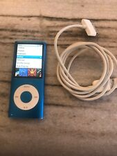 Apple iPod nano 4th Generation Blue (8GB) NEW BATTERY. Very Nice Condition