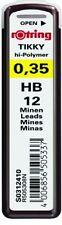 Rotring Tikky Lead Refill 0.35mm HB Hi Polymer Mechanical Pencil Pack 12 Black